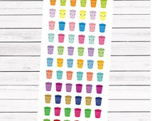"""66 pieces """"I am full"""" colorful  trash can/rubbish bin 