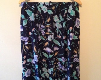 Vintage '90s Floral Button-Down Skirt