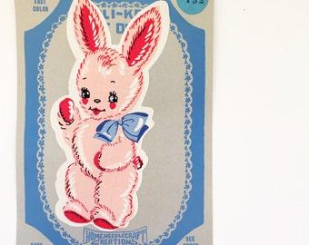 Adorable Vintage Bunny Rabbit Applique