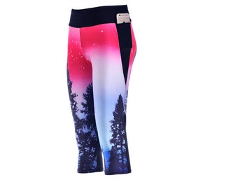 Custom Printed Digital Capri Leggings Made to Order by Legs247.com