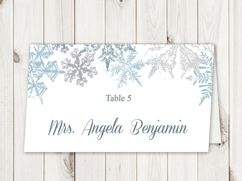 Christmas Dinner Place Cards Avery