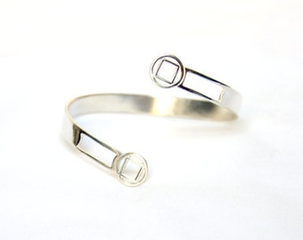 Circled Square Bypass Cuff