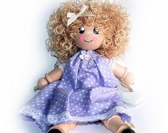 SALE Cotton Reel Doll, Large (27cms tall) Spool Doll, Bobbin Doll