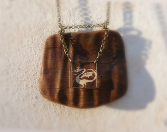 necklace, wood necklace, wood, dragon, Dragon,
