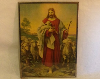 Jesus The Good Shepherd, Christian Picture, Christian Wall Art, Jesus Picture, Christian Gifts