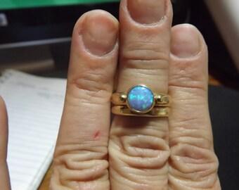 SALE***Australian Blue Opal Wedding Set