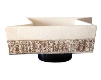 Geometric Mid-Century Ceramic Vessel
