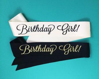 Birthday Girl Sash
