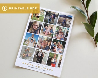 Instagram Christmas Card Template, Printable Photo Christmas Card, Christmas Card DIY, Download Holiday Card, Simple Christmas Card