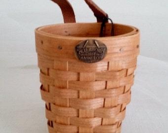 Peterboro Vintage Basket//Organizer Basket//Miniature Basket