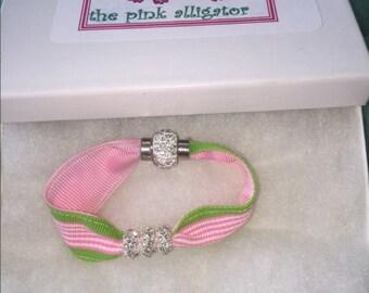 Preppy Rhinestone Magnetic Bracelet