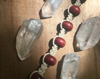 SALE 80% OFF Hemp Bracelet with Wood Beads