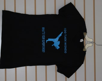 Taekwondo *SUPERPOWER* Custom-Made to Order Shirt-Womens