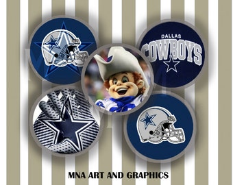 Dallas Cowboys Collage Images  - Dallas Cowboys 1 Inch Circles  -  Sport Dallas Cowboys Collage 4x6 inch format