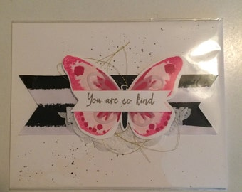 Stampin' Up You Are So Kind Butterfly Handmade Greeting Card