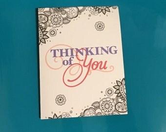 Custom Thinking Of You Card, Custom Card, Custom Cards, Thinking of You, Cards