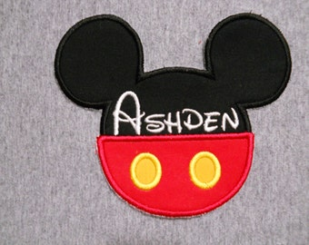 Made to order ~ Personalized Mr Mouse with Pants iron on or sew on applique