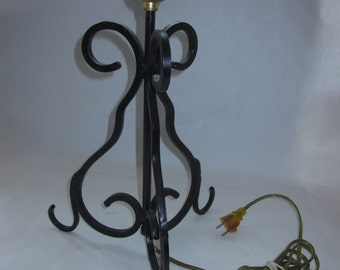 Scrolled Wrought Iron  Lamp