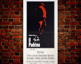 Original Movie Posters The Godfather 33x70 CM - Marlon Brando