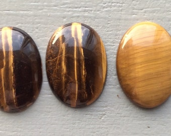 30x22mm Oval Tiger's eye cabohons