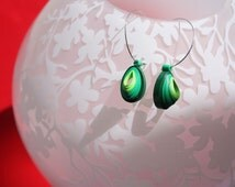 Handmade Quilling Earrings - Leaves ; Multiple Colors Available