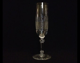 """Exquisite-BACCARAT-Pattern Colmar-7 1/2"""" Tall-Fluted-Crystal-Champange-Glass"""