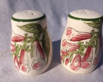 Vintage Foxglove Salt And Pepper Set Vintage  Foxglove Salt And Pepper Shakers