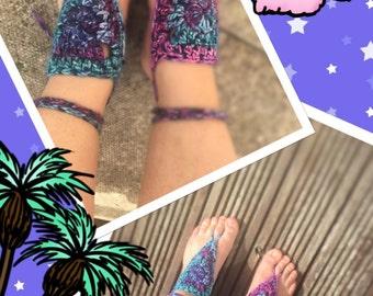 Barefoot sandals hippy boho