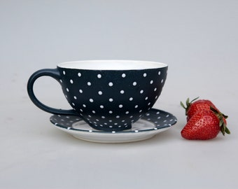 Strawberry cup blue