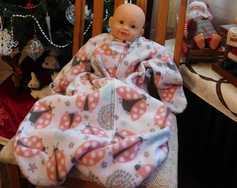 BABY SLEEP SACK -- fleece with mittens -- Small Only