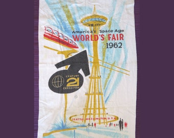 1962 Seattle Worlds Fair Beach Towel by Cannon