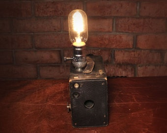 Vintage Pinhole Camera Lamp
