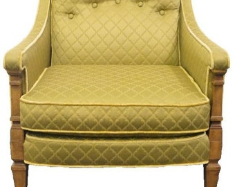 DREXEL HERITAGE French Empire Style Lowback Upholstered Accent Chair