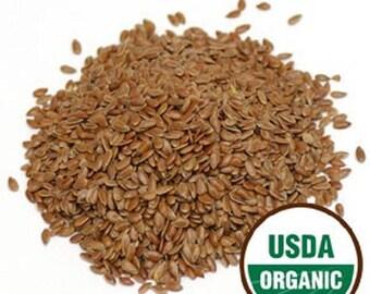 Flax Seed, Linseed, Organic 1 oz
