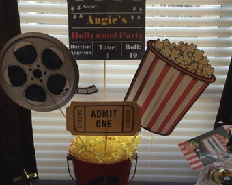 Hollywood/ Movie Centerpiece or photo props
