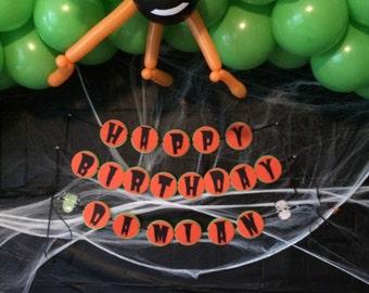 Halloween Birthday Banner