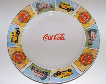 Unique Coca Cola Plates Related Items Etsy