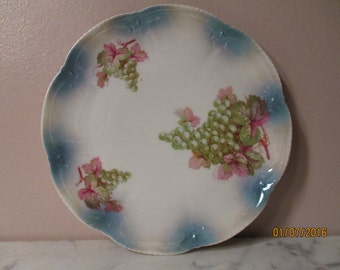 Grapes and Clouds Fine Porcelain Plate Made in Bavaria