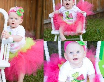 Watermelon (Pink and Green) Tutu