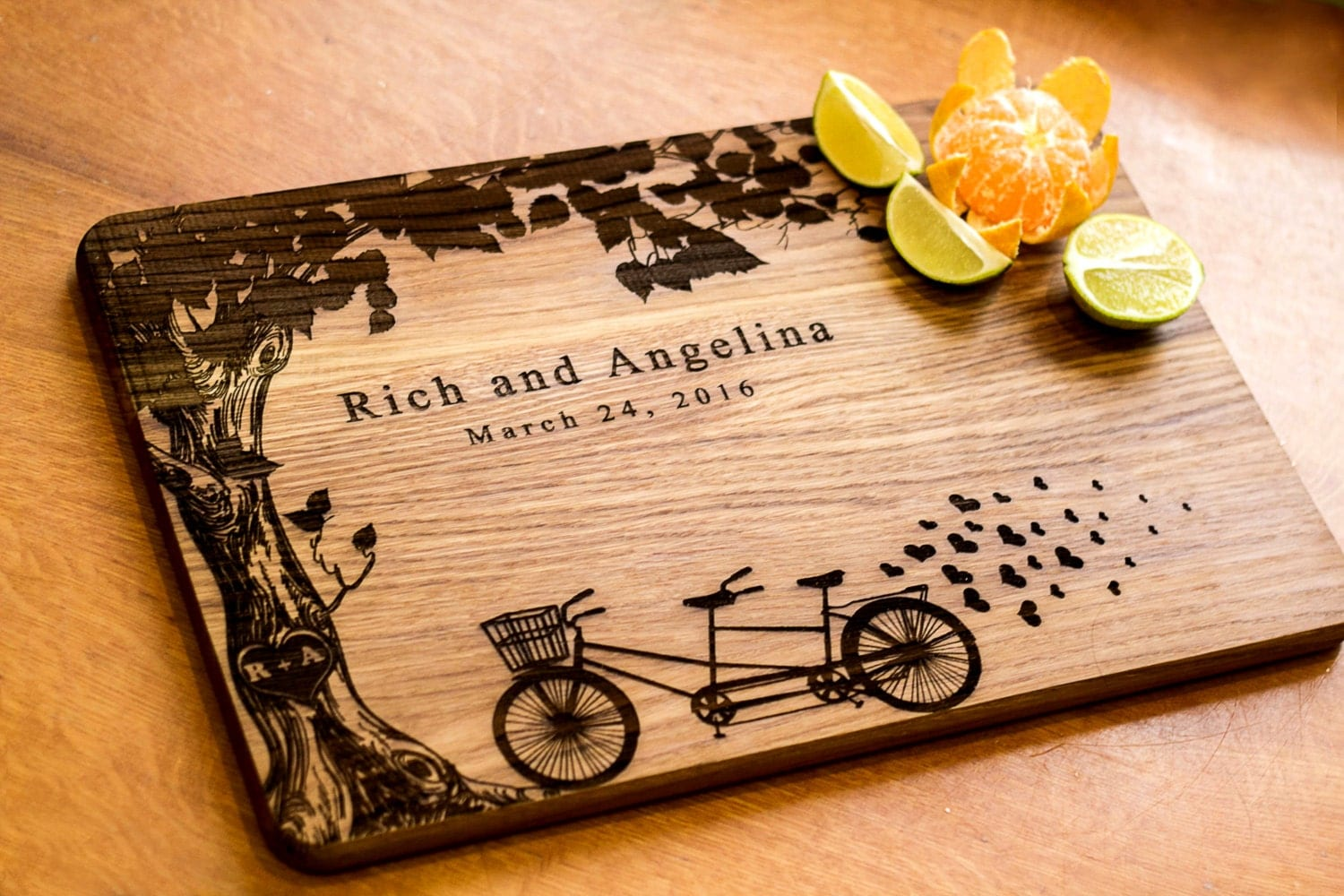 Wedding Gifts For Kitchen : Cutting Board Wedding gift Personalized by HeartwarmingGift
