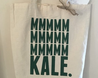 Tote bag, kale, wellness