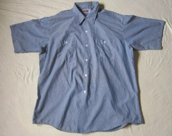Vintage Big Mac Chambray Made in USA Poly Cotton