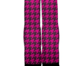 Function - Pink Houndstooth Fashion Socks