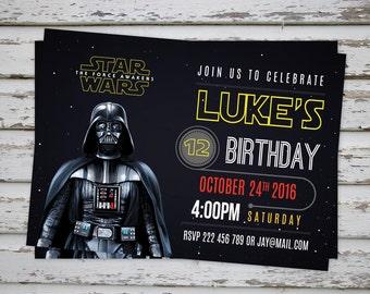Star Wars Invitation, Darth Vader Party Invitation, Stormtrooper Invitation, Star Wars Birthday Invite DIGITAL FILE