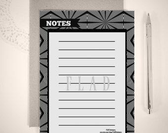 Digital or Printed Notepad or Loose Writing Sheets/ 5x7 Notepads/ Modern Notepads/ Bulk Notepads/ FS#0011