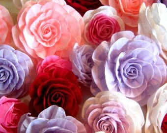 6 giant Crepe paper rose  flowers wall arch decor paper flower wedding bridal baby shower Photo backdrop Nursery sweet 16 table candy buffet