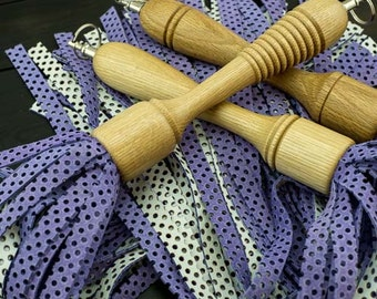 Wooden Handle Suede/Leather Flogger