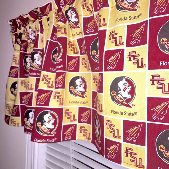 Florida State Fsu Seminoles Collegiant Fabric Topper Curtain