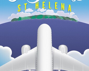 Fly Away to St Helena Poster