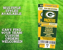 Green Bay Packers Ticket Invitation